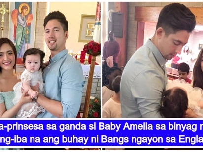 Parang prinsesa ang baby nila! Photos and video from the baptism of Bangs Garcia and Lloydi Birchmore's daughter Baby Amelia