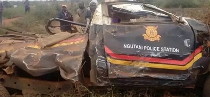 Officer dies, 3 others seriously injured after lorry crashes into police car