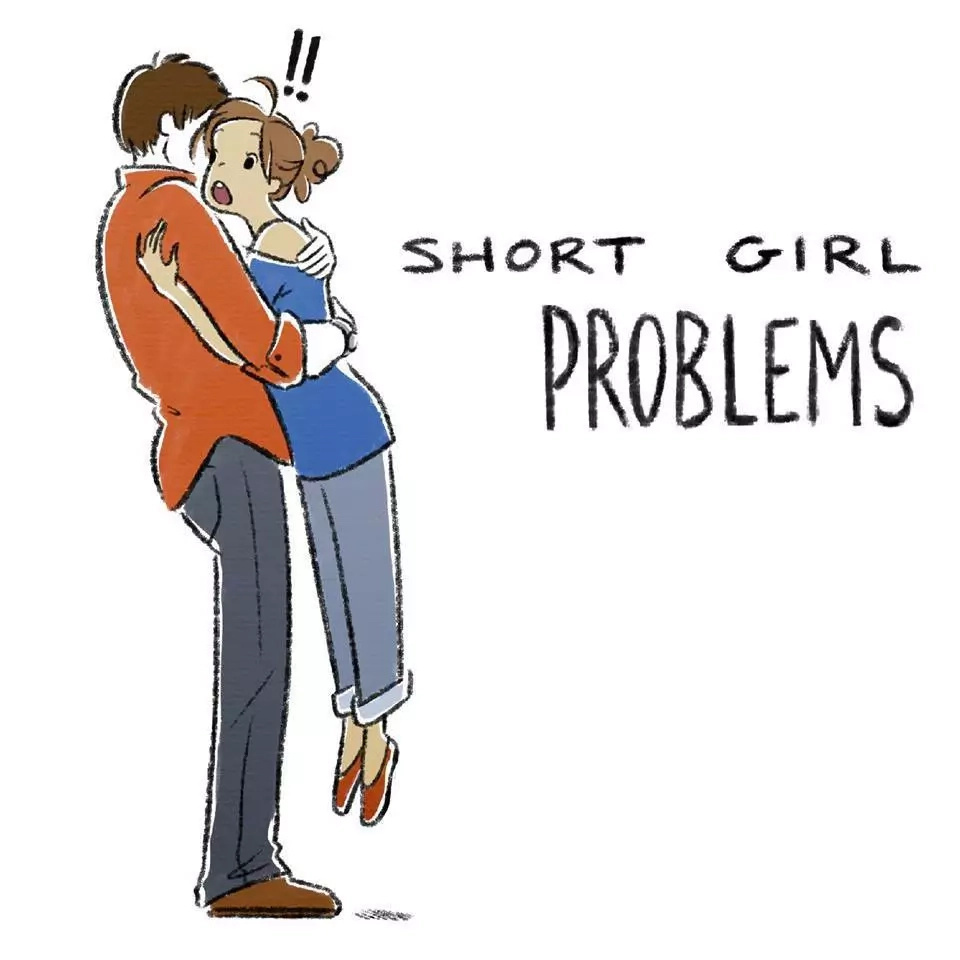 7 short girl problems illustrated