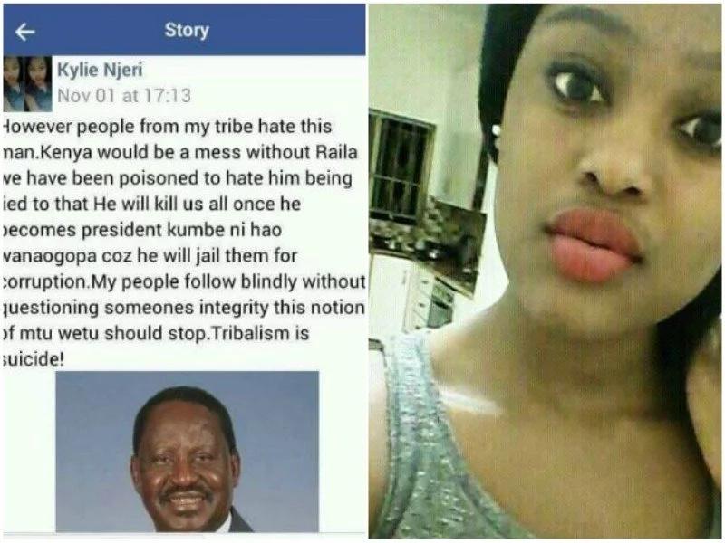 Beautiful Njeri pens powerful message about Raila