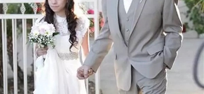 Father who is about to pass away walks 11-year-old daughter down the aisle