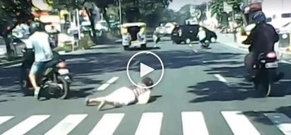 Kawawang matanda! Elderly Pinay in QC victimized by motorcycle rider in brutal hit-and-run accident