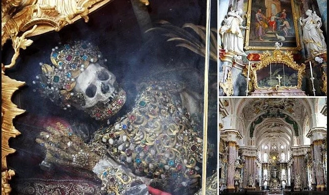 See skeletons of 2 Christian SAINTS encrusted with jewels that were preserved for hundreds of years (photos)