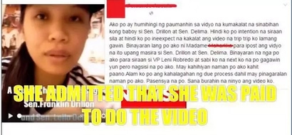 "Girl who called Senator De Lima and Drilon ""pigs"" online said she was paid"