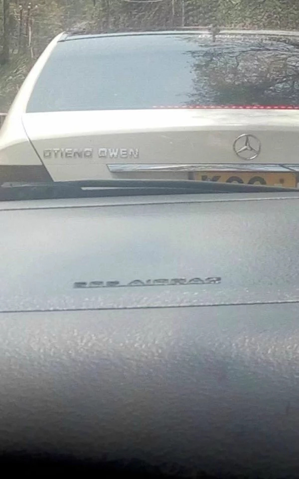 Customised Mercedes Benz of proud Luo man complete with his full names leaves Kenyans in awe