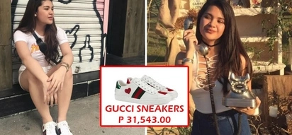 Siyempre, apo kaya ng pangulo! Vice Mayor Paolo Duterte's daughter flaunts Gucci sneakers worth P31K and Nano bag worth P116K!