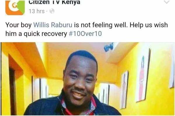 The worrying reason Willis Raburu was absent from 10 over 10, and it's not because of a potential exit