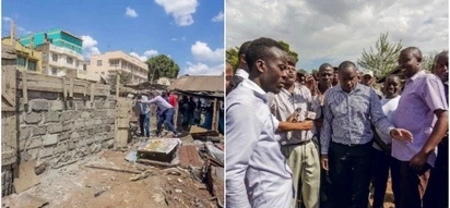 Newly-elected Starehe MP Jaguar pulls a Mike Sonko,leads Nairobi residents in tearing down an illegal wall(Photos)