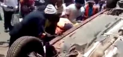 Mwizi hatari apewa kichapo cha MBWA nje ya gari lake la kifahari (video)