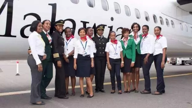 History as Malawi's first ever flight operated by ALL-FEMALE crew lands in Dar es Salaam (photos)
