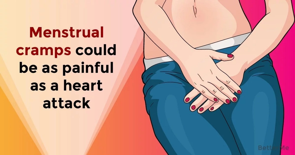 Menstrual cramps could be as painful as a heart attack