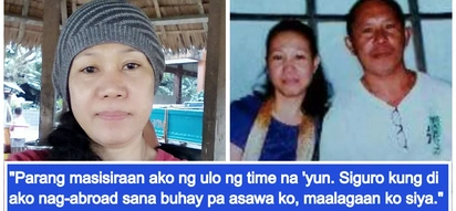 Mula Oman hanggang Pinas, hindi maubos ang luha; OFW lost her husband while abroad, couldn't go home for funeral, still cries a year after