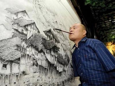 Perdió sus brazos, pero no su pasión - el pintor sin brazos que pinta con los pies y la boca
