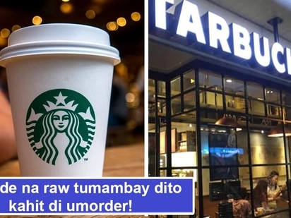 Okay na tumambay! Starbucks new policy allows guys and gals to sit in cafes without ordering anything