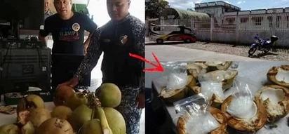 Policemen bust these daring drug traders who hid the illegal substance inside coconuts! Saan kaya nila ilalagay sa susunod?