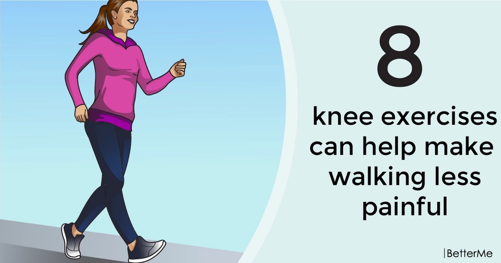 8 knee exercises can help make walking less painful