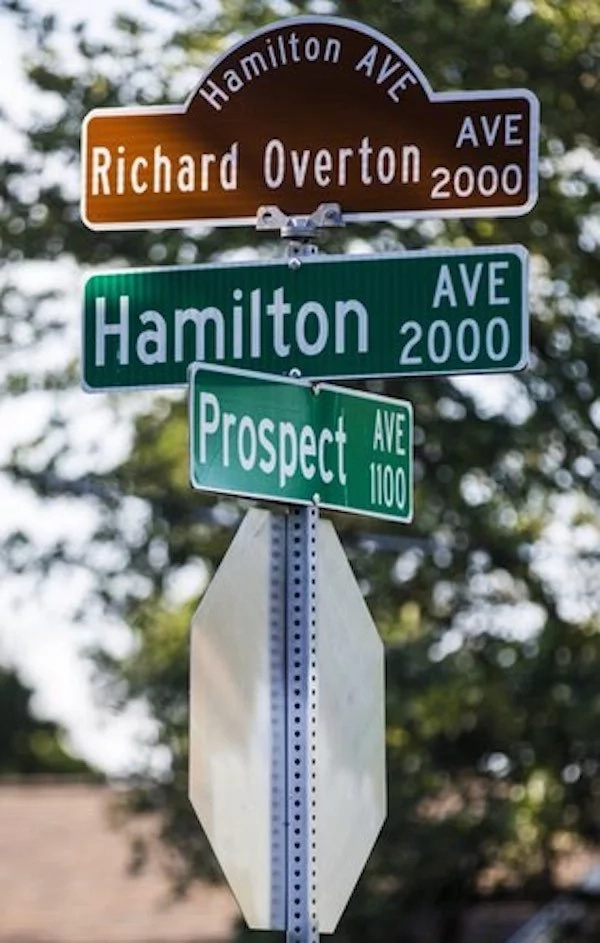 Overton has a street named after him in Austin, Texas