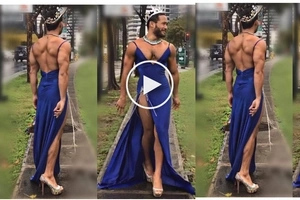 No one does it better than the Catwalk King Sinon Loresca! Crossing the streets in 6-inch heels