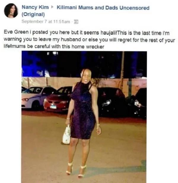 Mwanamke aonya vikali mpango wa kando wa mumewe Facebook