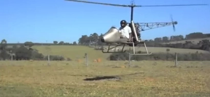 Video showing results of a chopper a Kenyan man tried to build and fly with