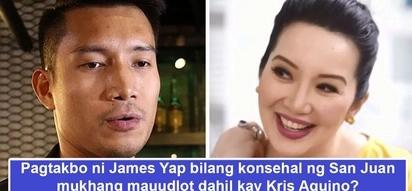 Nang dahil ulit kay Tetay? Balak ni James Yap na tumakbong konsehal sa San Juan mukhang mauunsyami dahil sa isyu sa ex-wife Kris Aquino