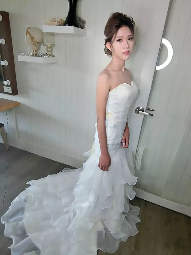 Chen at her pre-wedding photoshoot. Photo: AsiaWire