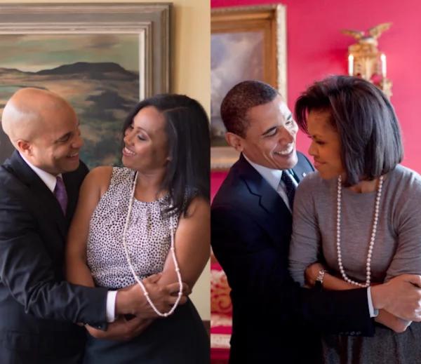The couple recreated the Obama's sweetest moments. Photo: Instagram/Natasha Herbert
