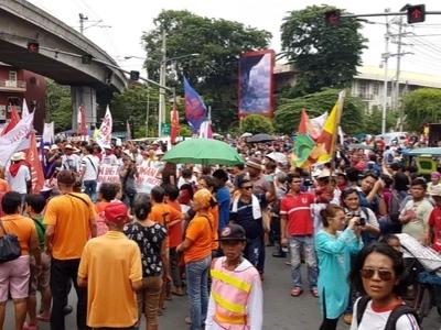 Progressive groups gather for Mendiola march