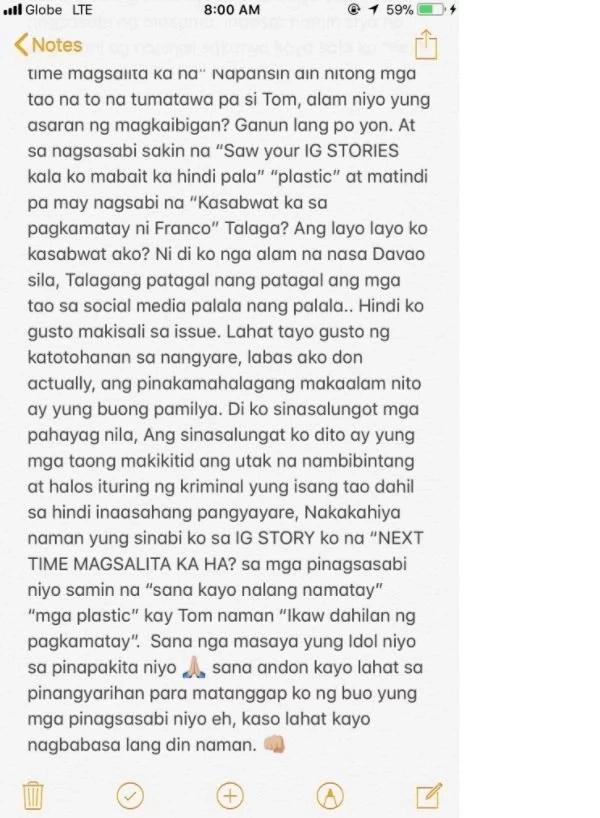 """Hashtag Jon Lucas defends himself against bashers """"Kasabwat ka sa pagkamatay ni Franco"""""""