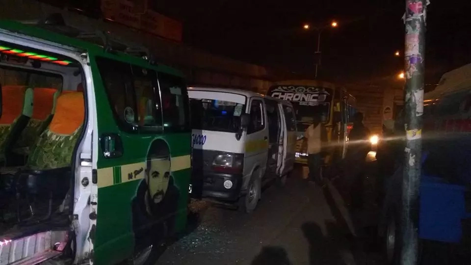 Rogue matatu driver and his conductor on the run after running over 51 year old man in Nairobi CBD