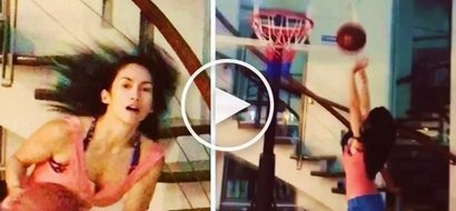 Ina Raymundo wows netizens as she shows off awesome basketball skills in her living room
