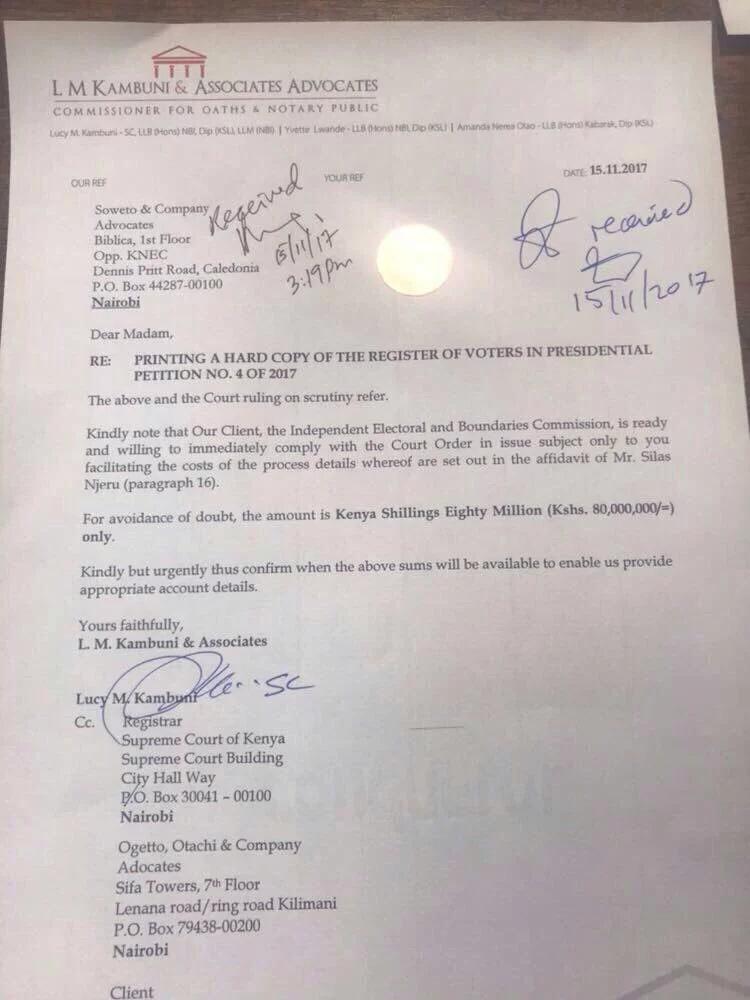 IEBC yauza nakala za sajili za wapiga kura kwa milioni 80 pekee