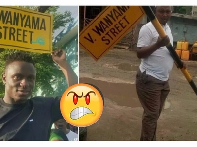 Victor Wanyama street sign in Tanzania pulled down, details