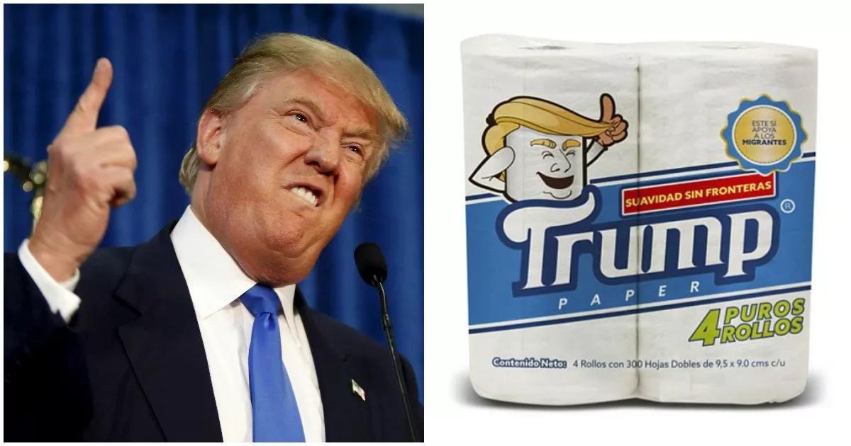 Resourceful Mexican businessman creates Donald Trump brand toilet paper (photos)