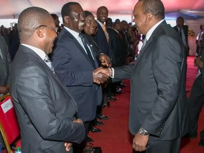 Uhuru slamms those opposed to the handshake between him and Raila