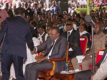 Kenyans noticed something odd after Raila and Uhuru Kenyatta shook hands amid political tension