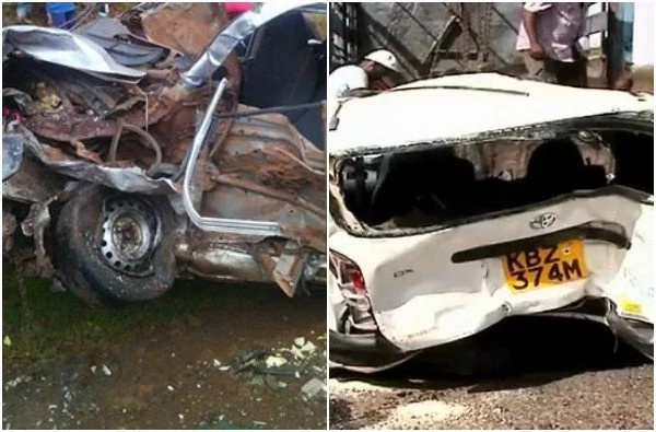 People steal meat while driver bleeds in mangled car (photos)