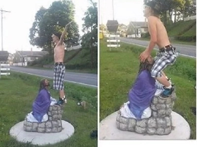 Walang respeto! FIND OUT what this terrible guy did to a statue of Jesus Christ