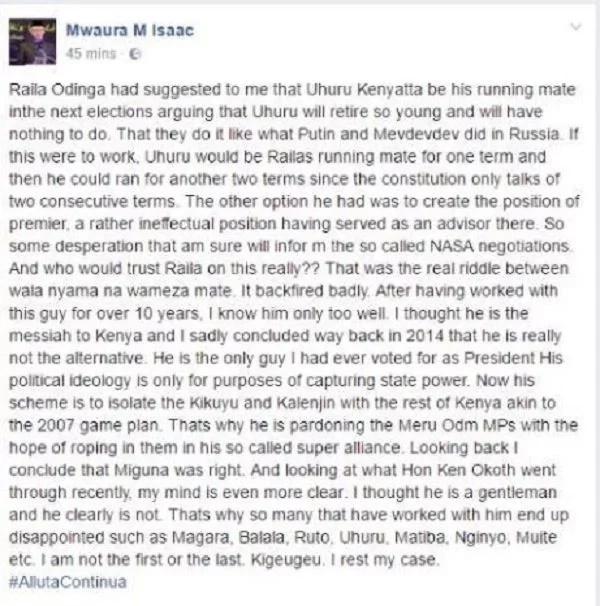 """Mazungumzo ya """"SIRI"""" kati ya Raila na Rais Uhuru? Pata uhondo kamili"""
