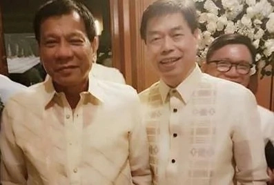 LOOK! Duterte and 'Kumpare' Peter Lim attend the same event