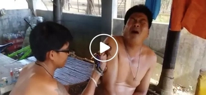 Planning to get a tattoo? This Pinoy in extreme pain while getting tattooed might not convince to get you one!