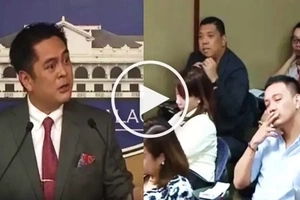 Watch Andanar get upset with reporter and accuse him of being biased toward Duterte!