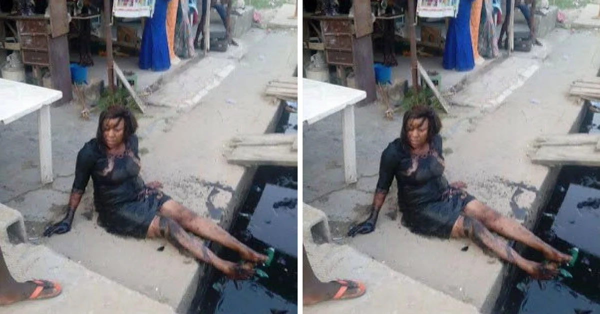 Girl falls into a sewer after falling off from her high-heels