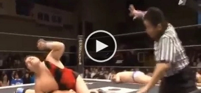 WATCH: Japanese wrestler was one count away from winning; what the referee did will make you LOL