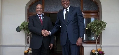 Uhuru meets South Africa's Zuma in first foreign visit after re-election