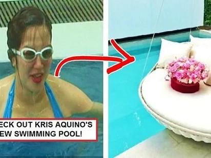 Sobrang bongga talaga! Kris Aquino shows off luxurious swimming pool of her new house!
