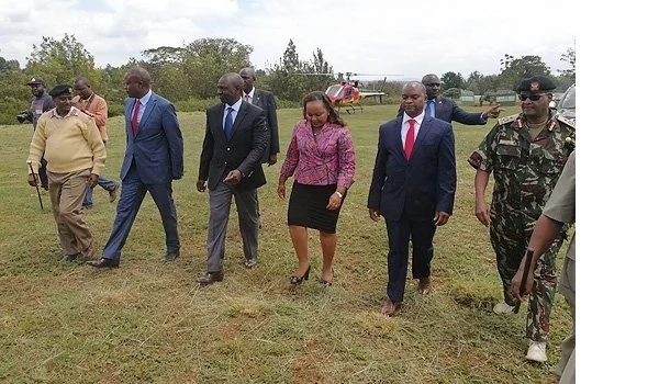 Waiguru receives DP Ruto in Kirinyaga ahead of her swearing in ceremony (photos)
