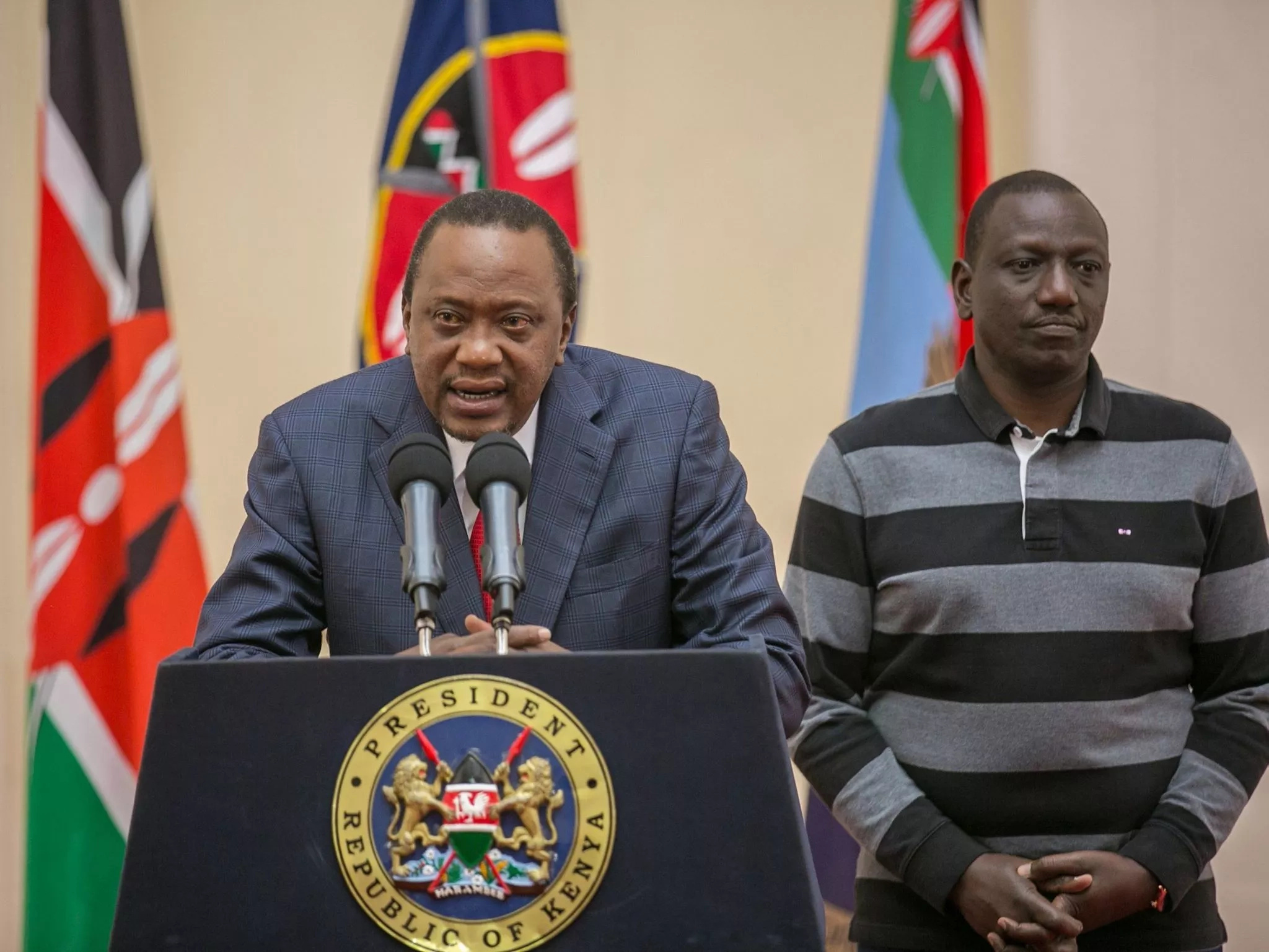 Kenyatta speaks out against court after election overturned