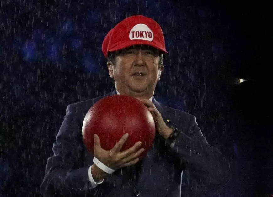 Japan teases for Tokyo 2020; PM Shinzo Abe dressed as Mario
