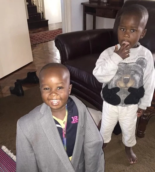 Adorable photos of Johnstone Sakaja having fun with his kids